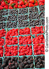 Fresh berries at market
