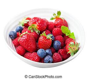 Fresh berries, blueberry, strawberry, raspberry