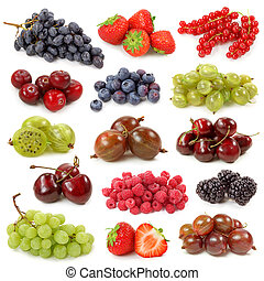Fresh berries collection
