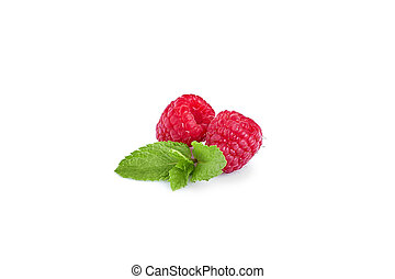 Fresh Berries Isolated on the White Background. Raspberry