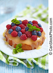 fresh berries tart