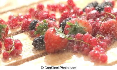 Fresh berry in the Rain