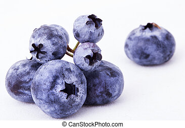 Fresh Bilberries. Close-up background - Fresh sweet...