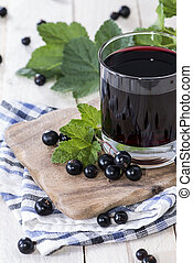 Fresh Black Currant juice with some fruits