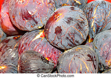 Fresh black fig