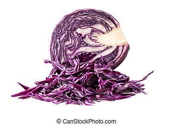 fresh blue cabbage