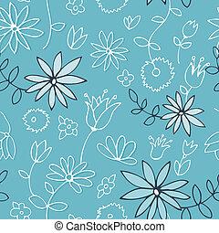 Fresh blue floral pattern