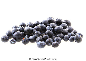 blueberries isolated on the white background