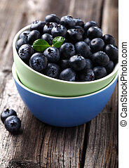 Fresh blueberry in a plate