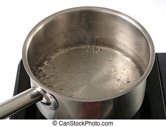 fresh boiling water