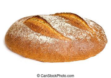 Fresh Bread - Fresh Tasty Bread Isolated on White Background