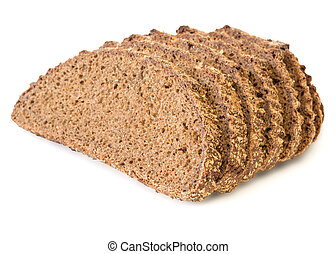 Fresh bread from wholemeal flour isolated on a white background.