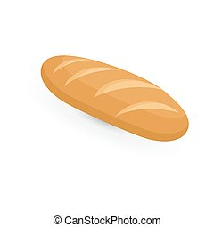 Fresh bread. loaf of bread on a white background.