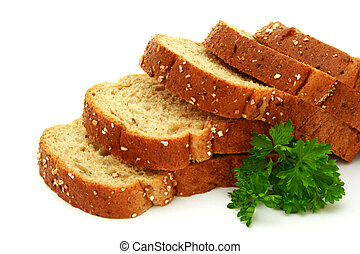 Fresh bread with parsley