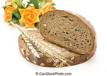 Fresh bread with wheat ear
