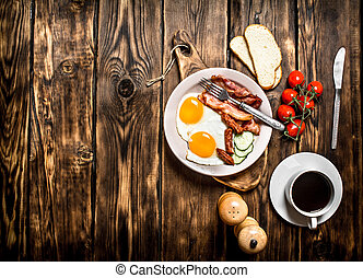 Fresh Breakfast with Cup of coffee