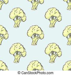 Fresh Broccoli Illustration inside Endless Texture