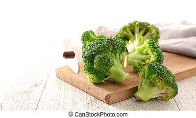 fresh broccoli on board