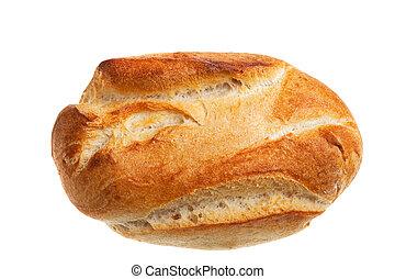 fresh bun isolated on white