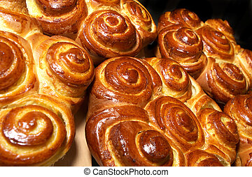 Fresh buns - Many fresh buns