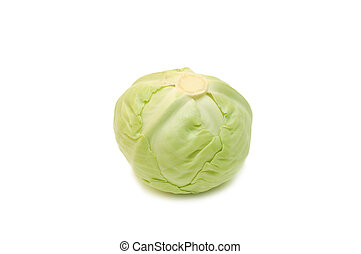 Fresh cabbage isolated on white background
