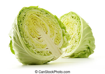 Fresh cabbage isolated on white
