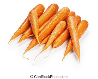 fresh carrot on white background isolated