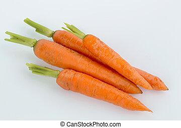 fresh carrots - carrots organically grown lying on white ...