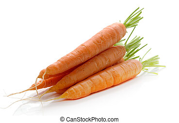 carrots - fresh carrots isolated over white background