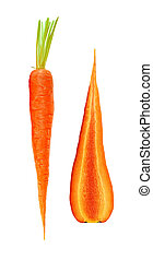 fresh carrots isolated