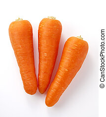 carrots - fresh carrots on white background