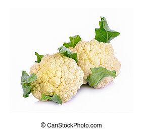 Fresh cauliflower on white background