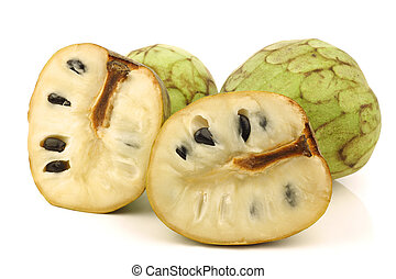 fresh cherimoya fruit