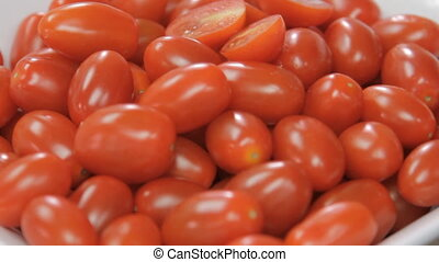 Fresh Cherry tomatoes juicy - Cherry tomatoes juicy on the...