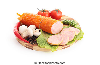 fresh chicken meat sausage