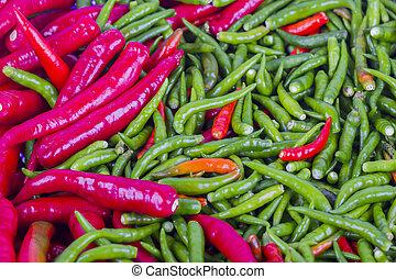 fresh chili background