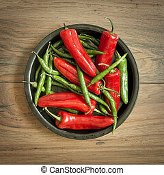 Fresh Chili Pepper Selection