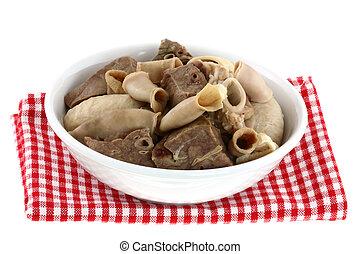 Fresh Chitterlings, Pork intestines - A bowl of Fresh ...
