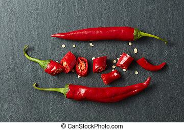 Fresh chopped red chili