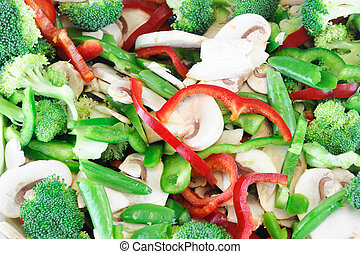 fresh chopped salad vegetable