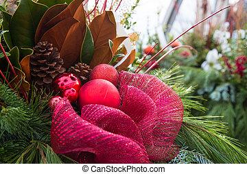 fresh Christmas floral arrangement