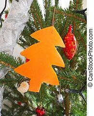 fresh christmas tree decoration