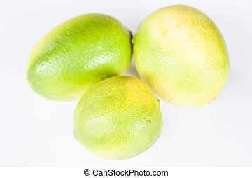 Fresh citrus lime different shape on white background