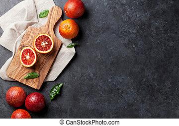Fresh citruses - red oranges