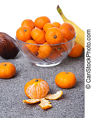 Fresh Clementines fruit peeled