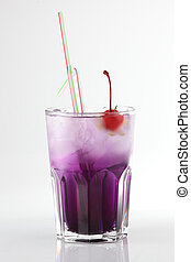 fresh cocktail on a white background - fresh and cold...