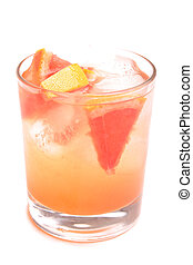 coctail - Fresh coctail on white background (isolated, close...