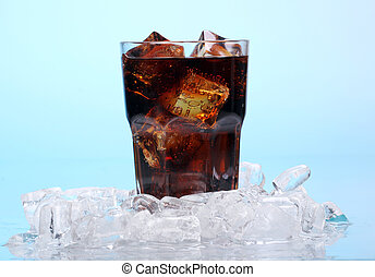 Fresh cola drink in glass - Fresh and cold cola drink in ...