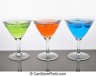 fresh cold drinks - fruit cold drinks assortment with ...