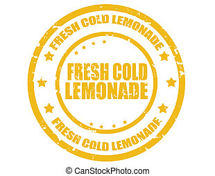Fresh cold lemonade-stamp - Grunge rubber stamp with text ...